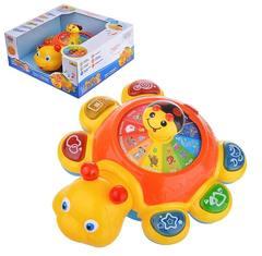 Музыкальная развивающая игрушка Божья коровка со светом и звуком Joy Toy