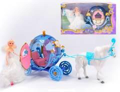 Кукла с лошадью и каретой Королева бала
